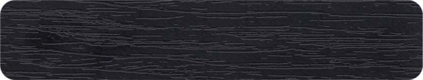 22*040 mm Yıldız Ent. Registar Siyah Pvc Kenar Bandı